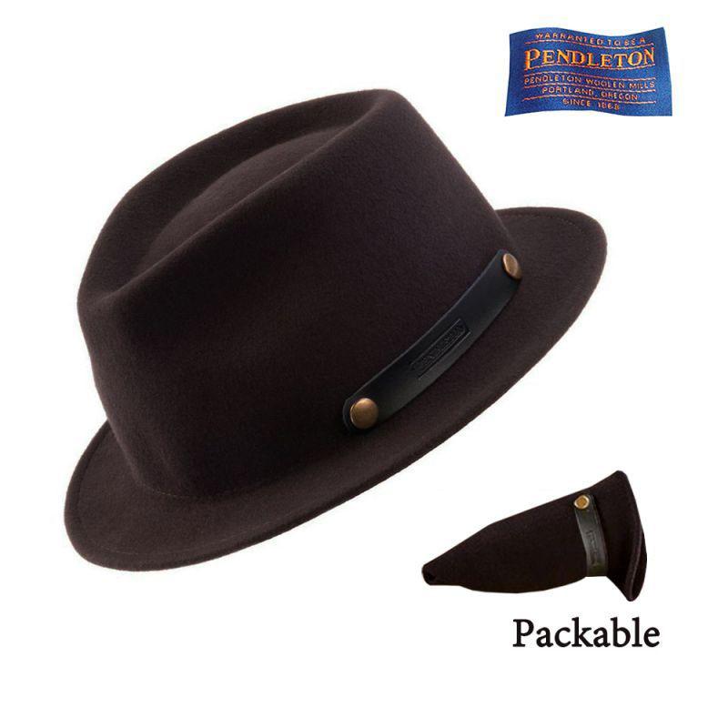 画像1: ペンドルトン ロールアップ スティンジーブリム ハット(ビーバーブラウン)/Pendleton Roll-up Stingy Brim Hat