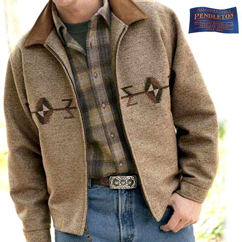 画像1: ペンドルトン ウール ウエスタンジャケット(ブラウン)/Pendleton Wool Western Jacket