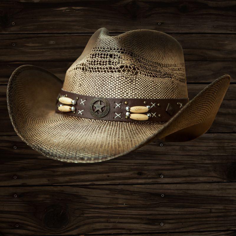 画像1: ブルハイド ウエスタン ストローハット(デスペラード)/Bullhide Western Straw Hat(Desperado) (1)