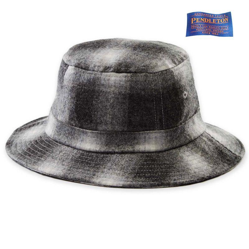 画像1: ペンドルトン バケット ハット(ブラック・チャコール)/Pendleton Plaid Bucket Hat