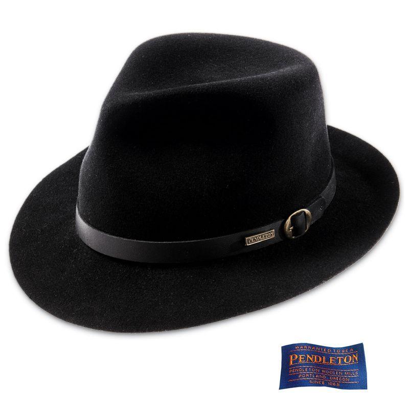 画像1: ペンドルトン フェドラ ハット(ブラック)/Pendleton Fedora Hat Black