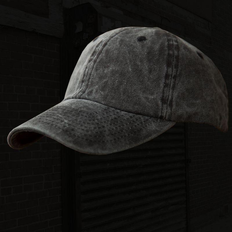 画像1: ウオッシュ コットン キャップ ウオッシュブラック/Baseball Cap