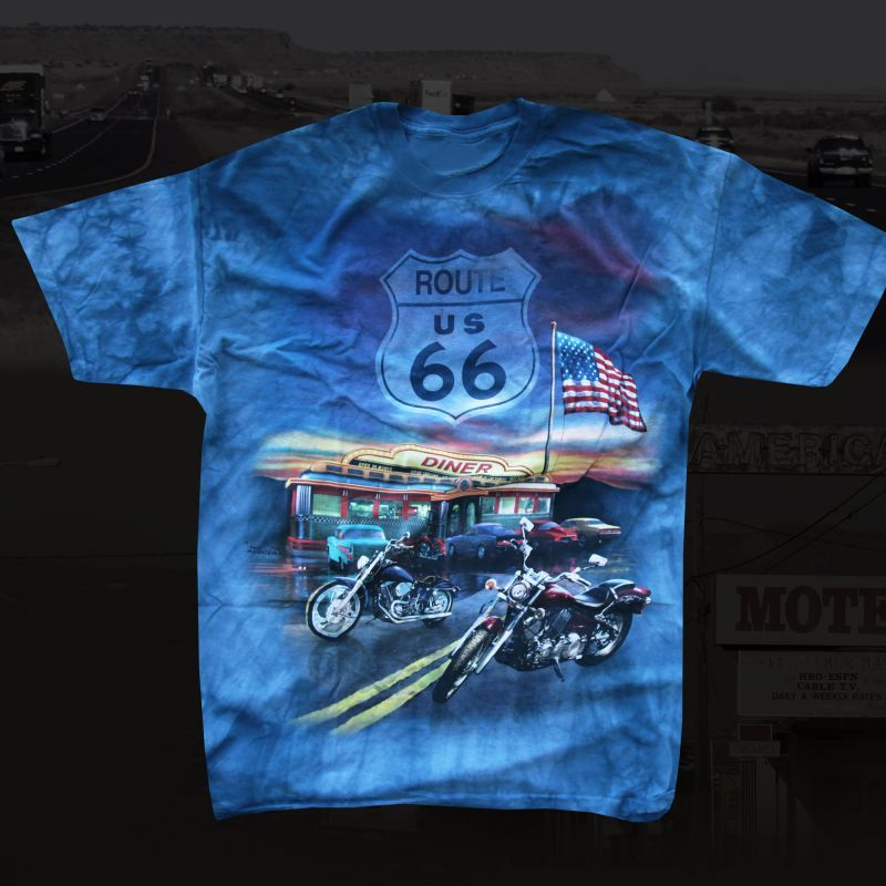 画像1: ルート66 半袖Tシャツ(デニム)/Route66 T-shirt  (1)