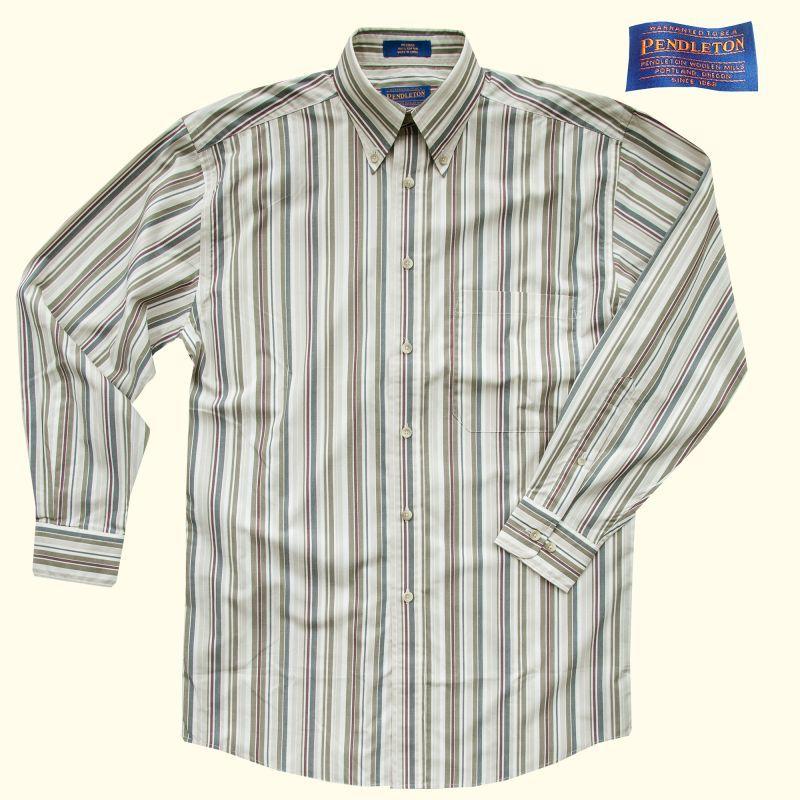 画像1: ペンドルトン 長袖 ボタンダウンシャツ(タン・ブルー・グリーン)S/Pendleton Long Sleeve Shirt(Tan/Blue/Green)