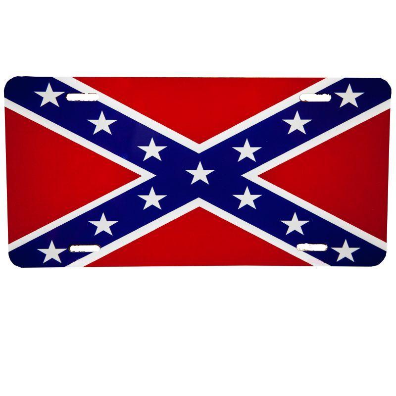 画像1: アメリカ 南部連合国旗 ライセンス プレート/License Plate (1)