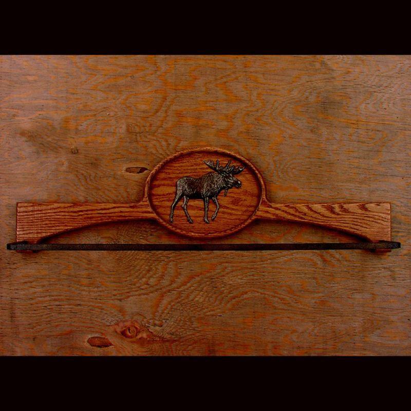 画像1: オーク ムース タオルハンガー/Oak Towel Hanger Moose (1)