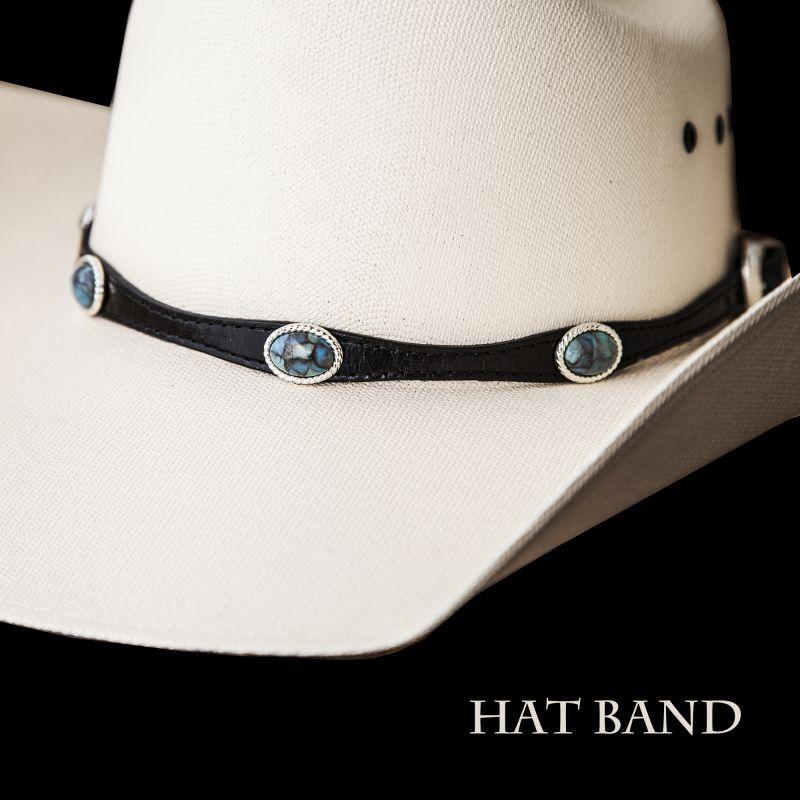 画像1: レザー ハット バンド(ブラック)/Leather Hat Band(Black) (1)