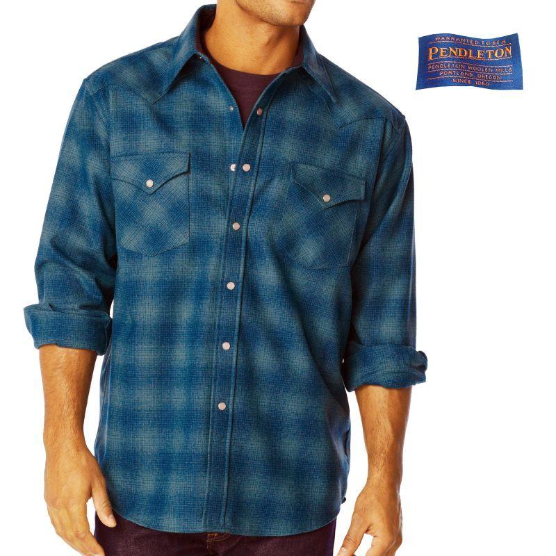画像1: ペンドルトン ウエスタンシャツ(ターコイズオンブレ)/Pendleton Western Shirt (1)
