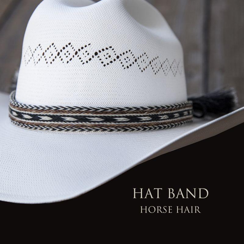 画像1: ホースヘアー ハット バンド(ブラック・ブラウン・ナチュラル)/Horse Hair Hat Band