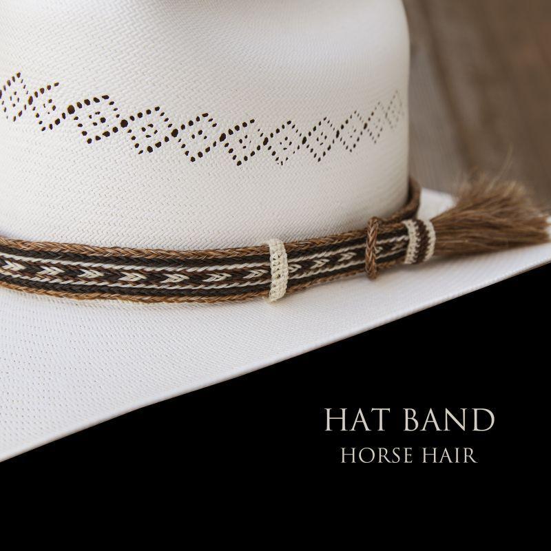 画像1: ホースヘアー ハット バンド(ブラウン)/Horse Hair Hat Band(Brown)