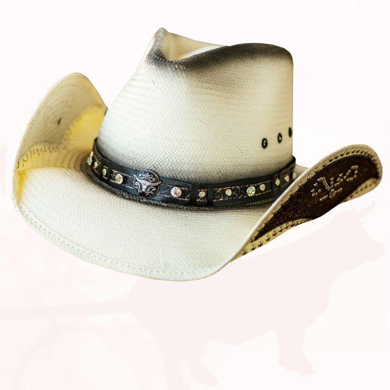 画像1: ブルハイド ウエスタン ストローハット ルーズマイマインド(ナチュラル)/Bullhide Western Straw Hat Lose My Mind(Natural)