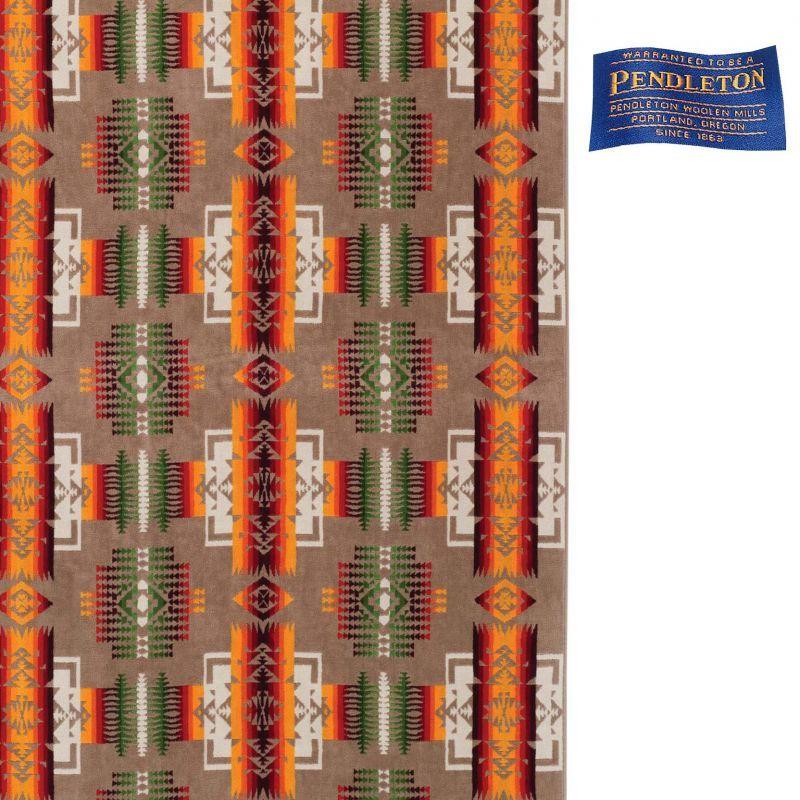 画像1: PENDLETON ペンドルトン ジャガードバスタオル(チーフジョセフ カーキ)/Pendleton Chief Joseph  Spa Towel(Khaki) (1)