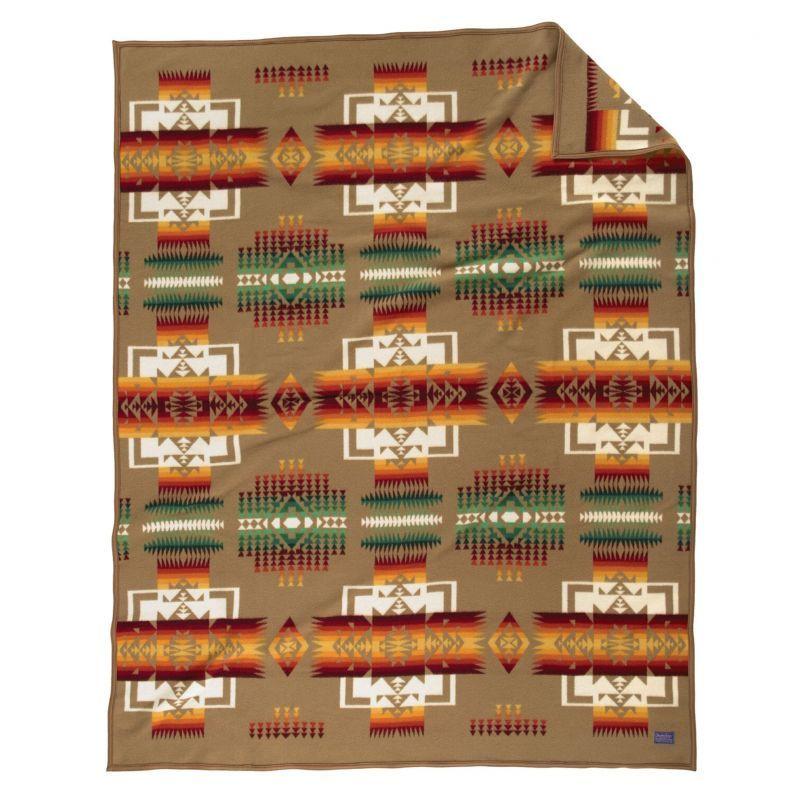 画像1: ペンドルトン チーフジョセフ ブランケット(タン)/Pendleton Chief Joseph Collection(Tan) (1)