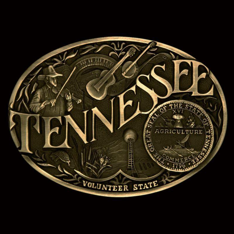 画像1: モンタナシルバースミス ベルト バックル テネシー/Montana Silversmiths Belt Buckle