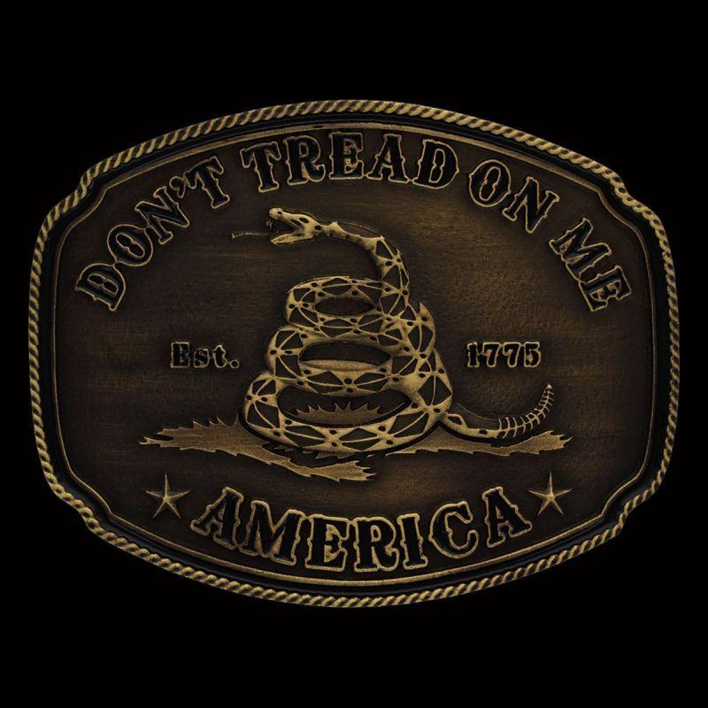 画像1: モンタナシルバースミス ベルト バックル Don't Tread on Me/Montana Silversmiths Belt Buckle (1)