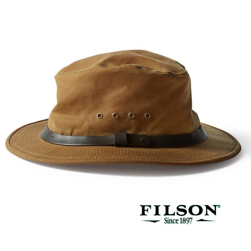 画像1: フィルソン オイルフィニッシュ ティンクロス パッカー ハット(ダークタン)/Filson Tin Packer Hat (1)