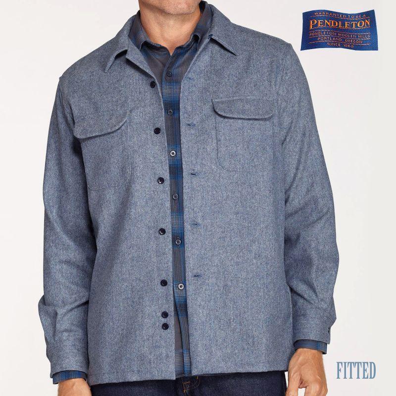 画像1: ペンドルトン ウールデニム フィッテッド ボードシャツ(ブルーデニム)/Pendleton Fitted Board Shirt