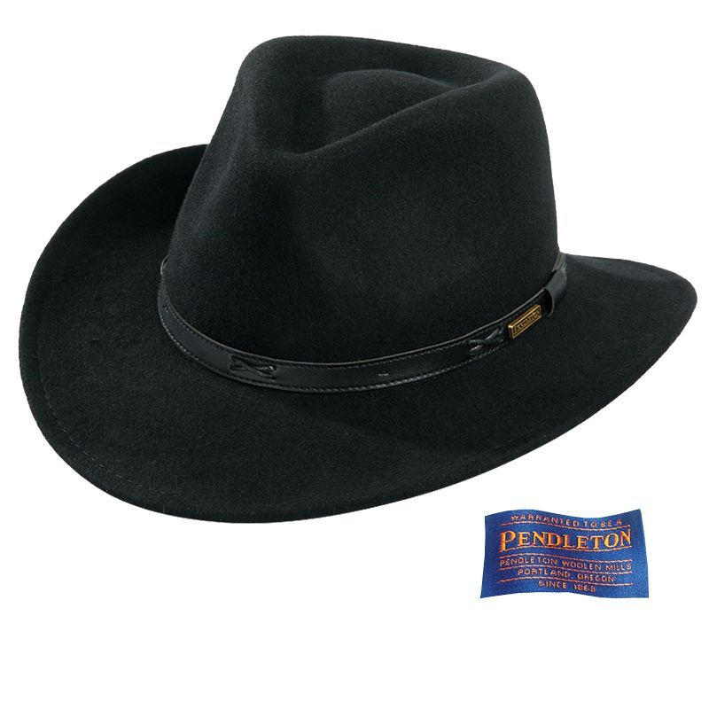 画像1: ペンドルトン インディ ハット(ブラック)/Pendleton Indy Hat(Black)