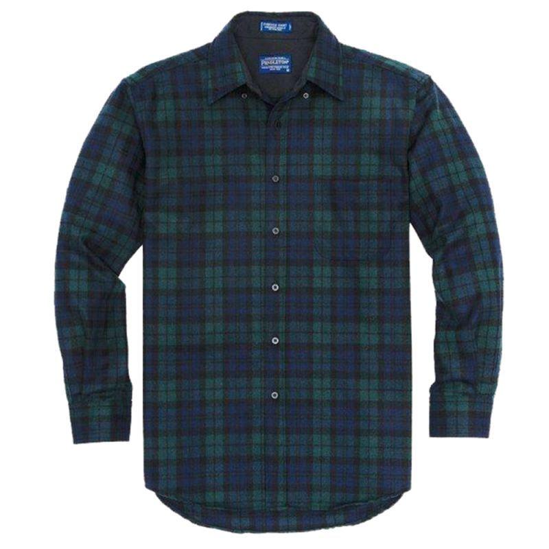 画像2: ペンドルトン ウール シャツ・ファイアーサイドシャツ(ブラックウォッチタータン)/Pendleton Fireside Shirt (Black Watch Tartan)