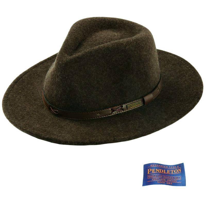 画像1: ペンドルトン インディ ハット(オリーブミックス)/Pendleton Indy Hat(Olive Mix)