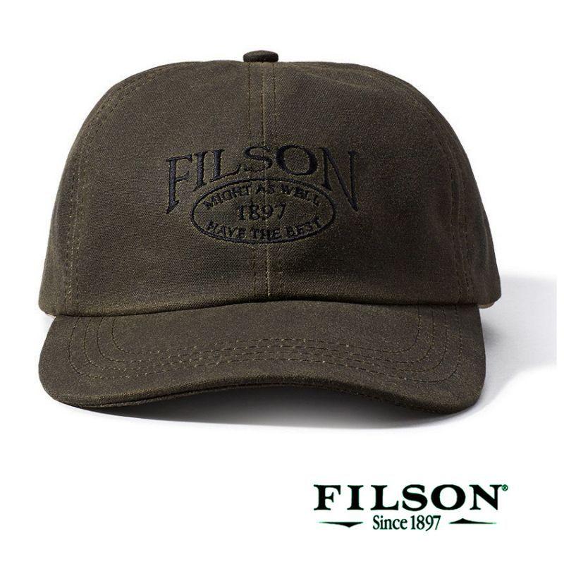 画像1: フィルソン オイルフィニッシュ ティンクロス キャップ(オッターグリーン)/Filson Tin Cloth Low Profile Cap(Otter Green)