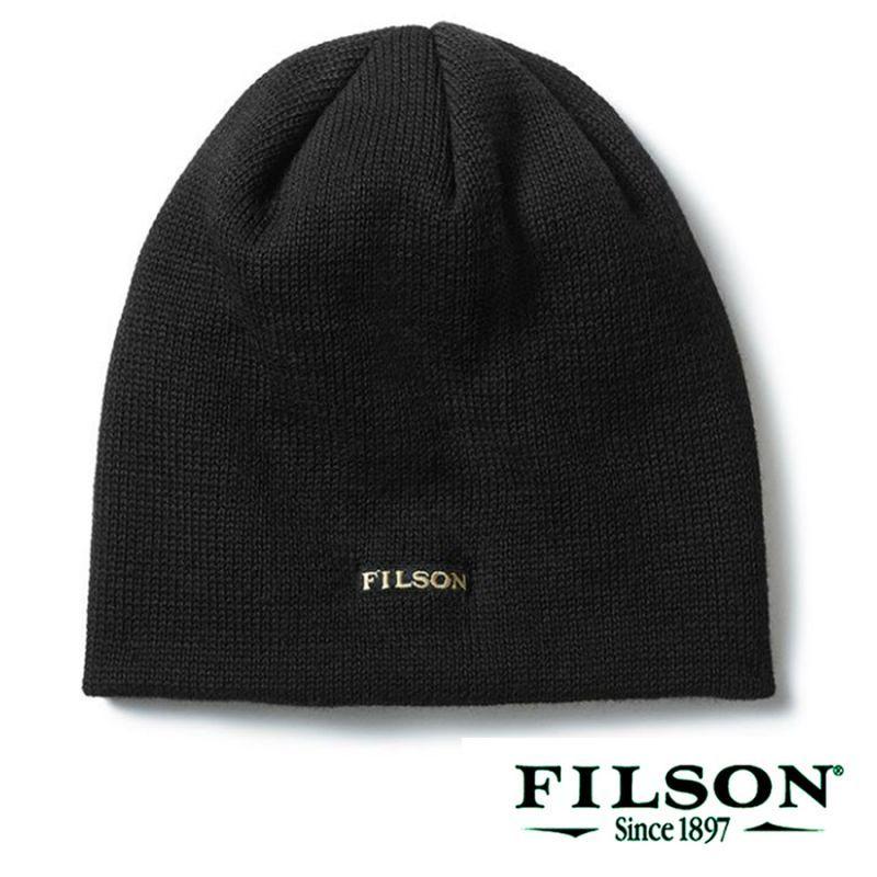 画像1: フィルソン バージンウール ニット キャップ(ブラック)/Filson Wool Cap(Black) (1)