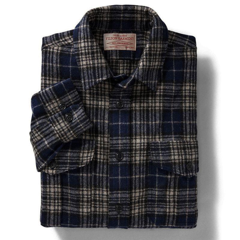 画像2: フィルソン ノースウエスト ウールシャツ(ダークブループラッド)/Filson Northwest Wool Shirt