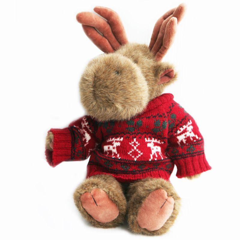 画像1: 赤いセーターを着たムースのぬいぐるみ/Stuffed Animal of Moose (1)