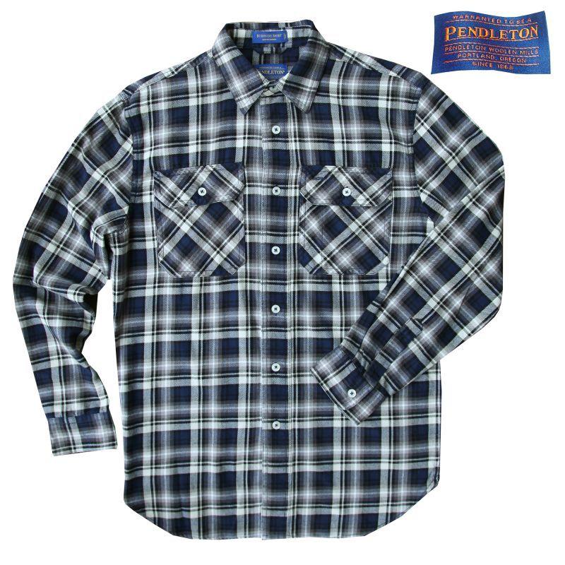 画像1: ペンドルトン フランネル シャツ ネイビーS/Pendleton Flannel Shirt