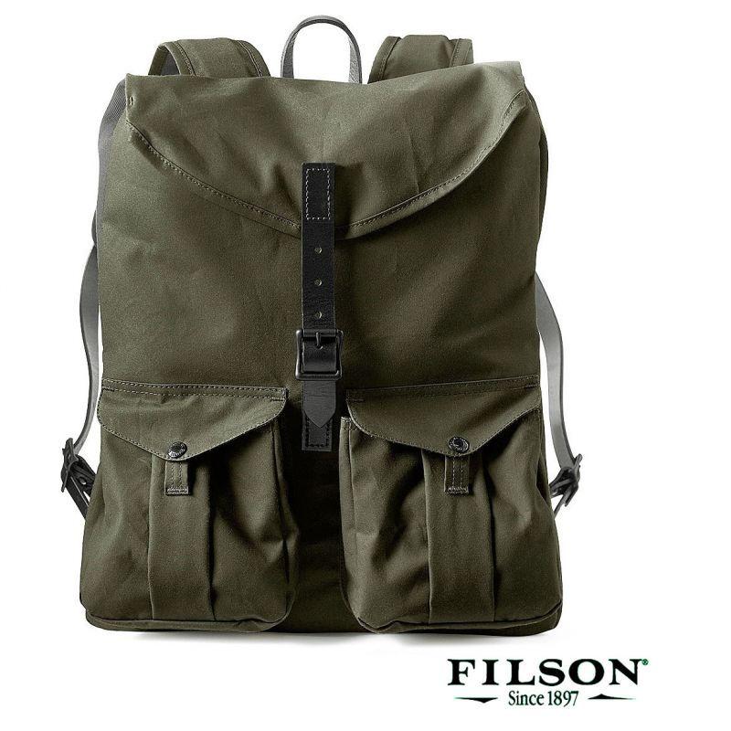 画像1: フィルソン ハーヴェイ バックパック(マグナムブラック)/Filson Harvey Backpack