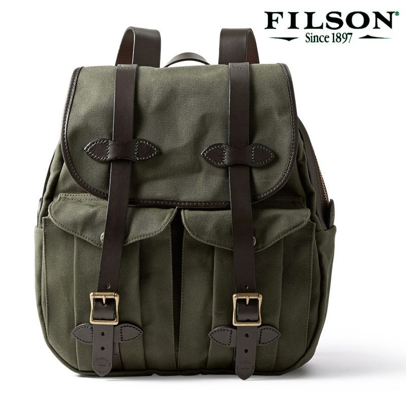 画像1: フィルソン リュックサック(オッターグリーン)/Filson Rucksack (1)