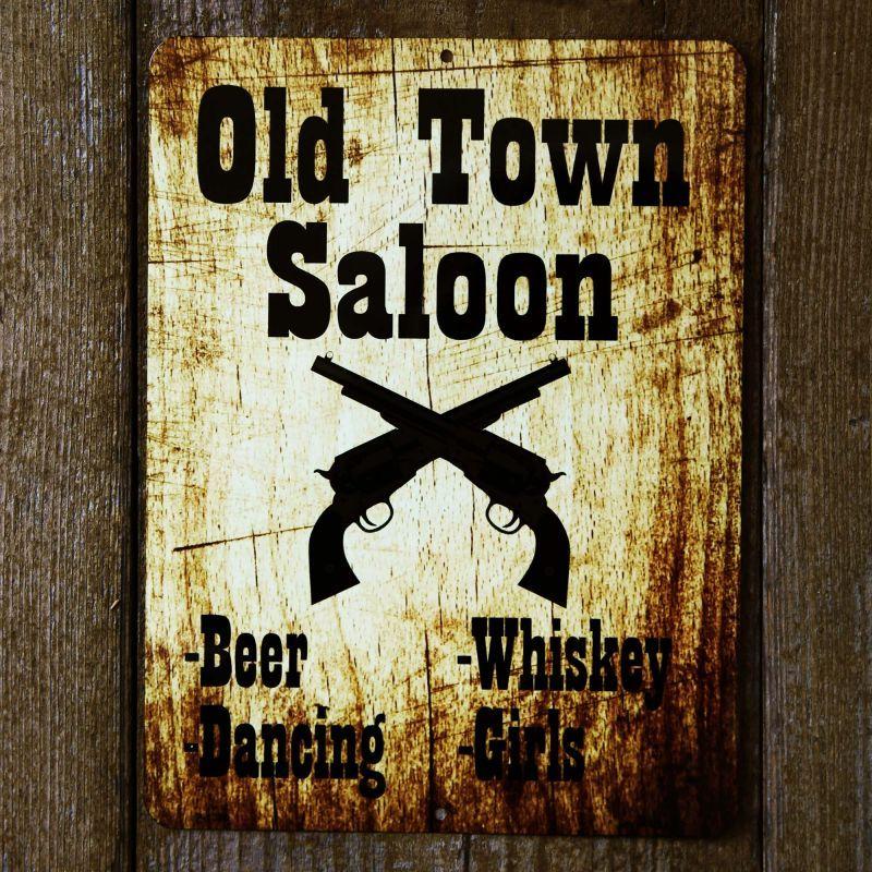 画像1: オールド タウン サルーン メタルサイン/Metal Sign Old Town Saloon (1)