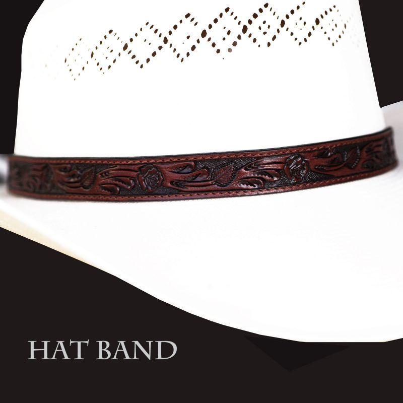画像1: レザー ハット バンド(ブラウン)/Leather Hat Band(Brown) (1)