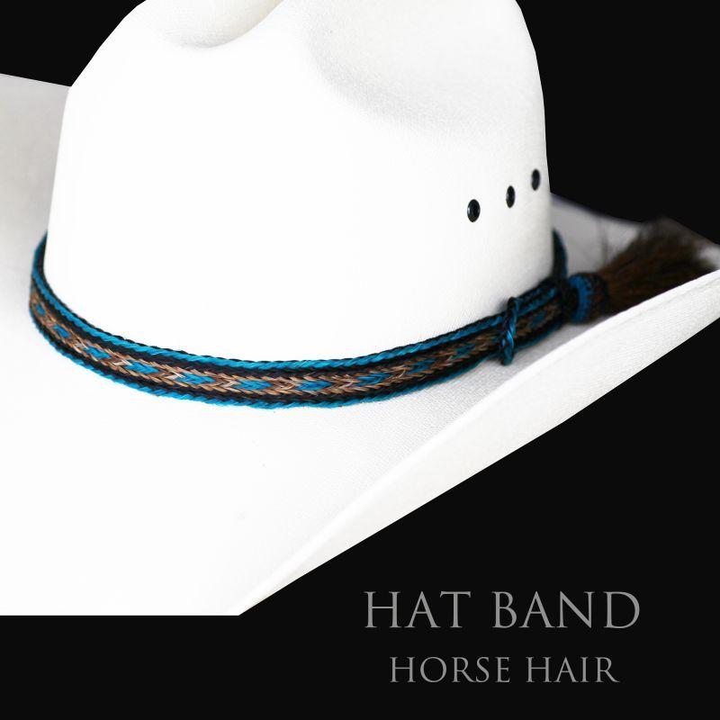 画像1: ホースヘアー ハット バンド(ターコイズ)/Horse Hair Hat Band(Turquoise)