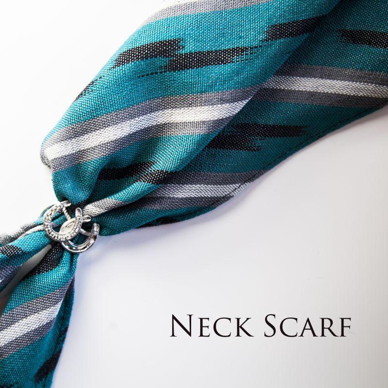 画像1: カウボーイ ネック スカーフ(ターコイズ・ブラック・グレー)/Scarf