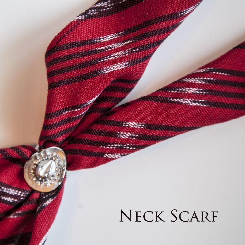 画像1: カウボーイ ネック スカーフ(レッド・ブラック・ホワイト)/Scarf