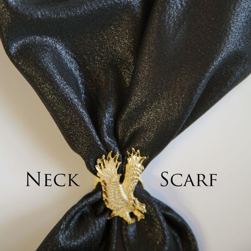 画像1: カウボーイ ネック スカーフ(ブラック)/Scarf