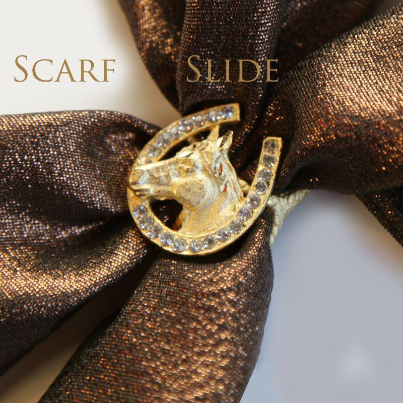 画像1: スカーフ スライド スカーフ留め ネックスカーフ用(ホースヘッド&ホースシュー)/Scarf Slide (1)