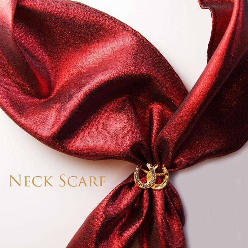 画像1: カウボーイ ネック スカーフ(レッド)/Scarf