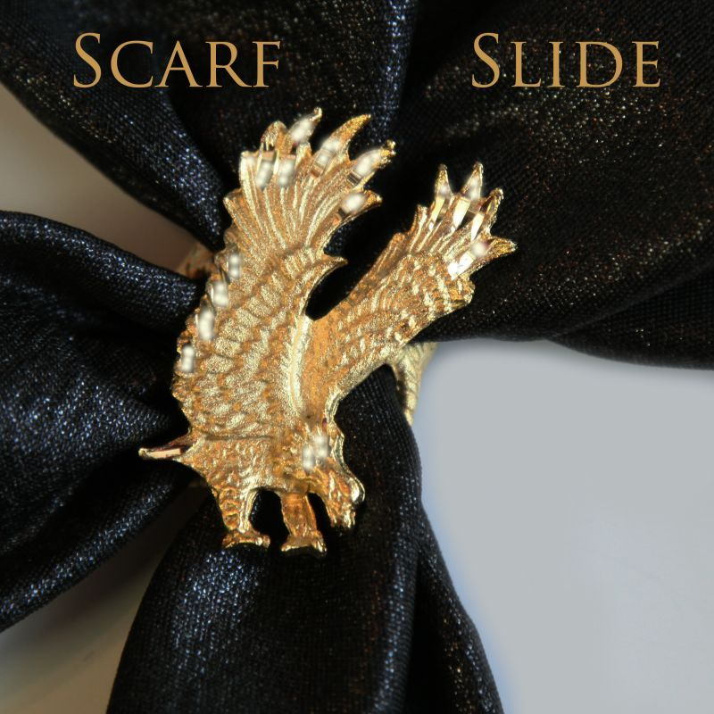 画像1: スカーフ スライド スカーフ留め ネックスカーフ用(アメリカンイーグル)/Scarf Slide (1)