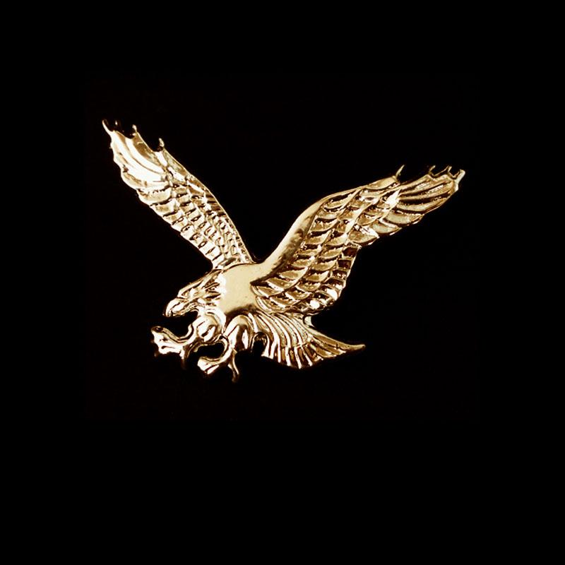 画像1: アメリカンイーグル ハット ピン(ゴールド)/American Eagle Hat Pin (1)