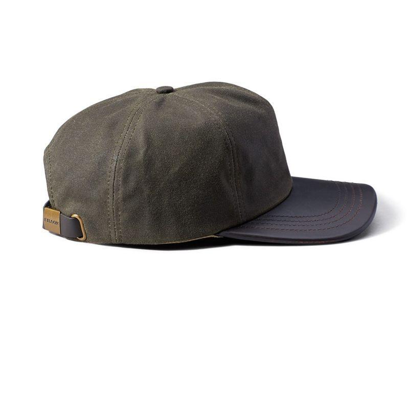 画像2: フィルソン ティンクロス レザー キャップ(オッターグリーン)/Filson Tin Cloth Leather Cap(Otter Green)