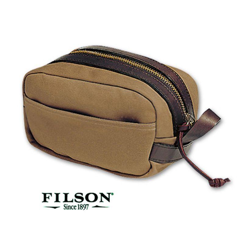 画像1: フィルソン トラベルキット(タン)/Filson Travel Kit(Tan)