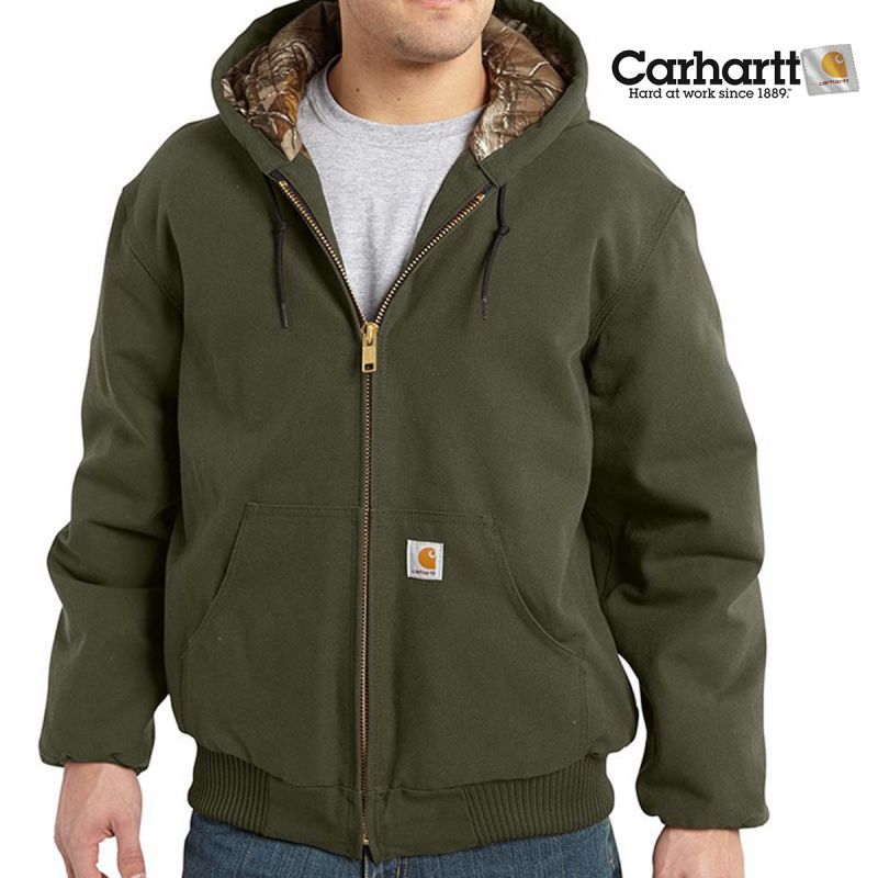 画像1: カーハート カモラインド アクティブ ジャケット(モス)M/Carhartt Camo Lined Active Jacket(Moss)