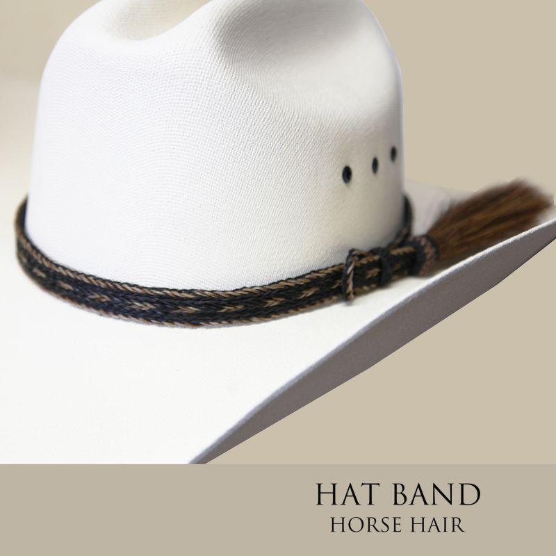 画像1: ホースヘアー ハット バンド(ブラック・ブラウン)/Horse Hair Hat Band(Black/Brown)