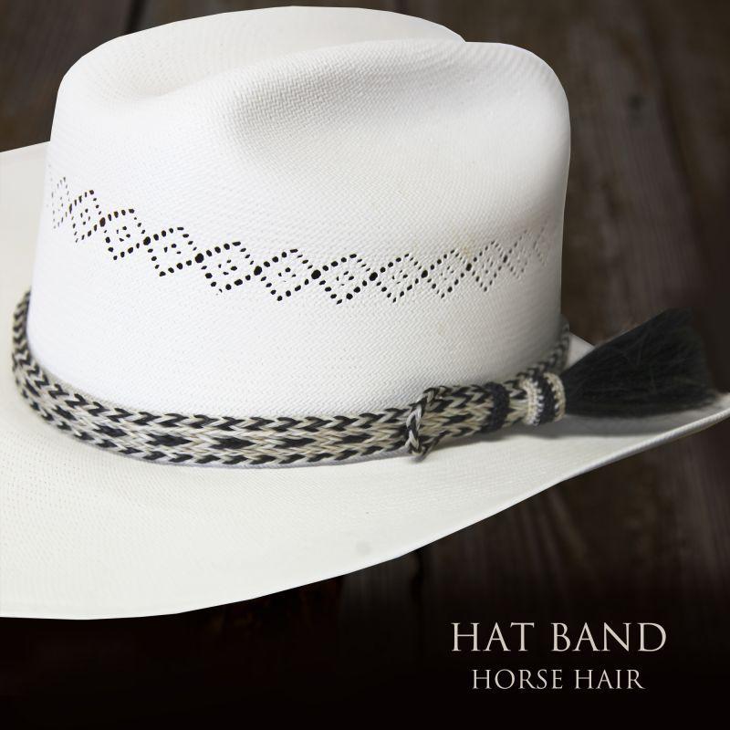 画像1: ホースヘアー ハット バンド(ナチュラル・ブラック)/Horse Hair Hat Band(Natural/Black) (1)