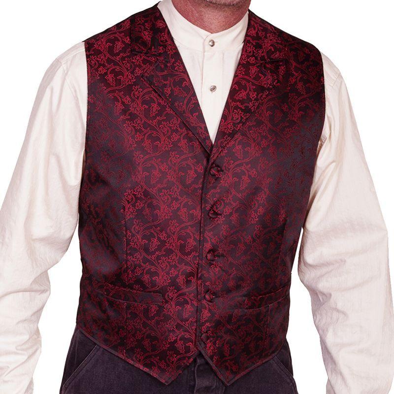画像1: スカリー オールドウエスト ベスト(ワイルドヴァイン・レッド)/Scully Old West Vest (Wild Vine/Red) (1)