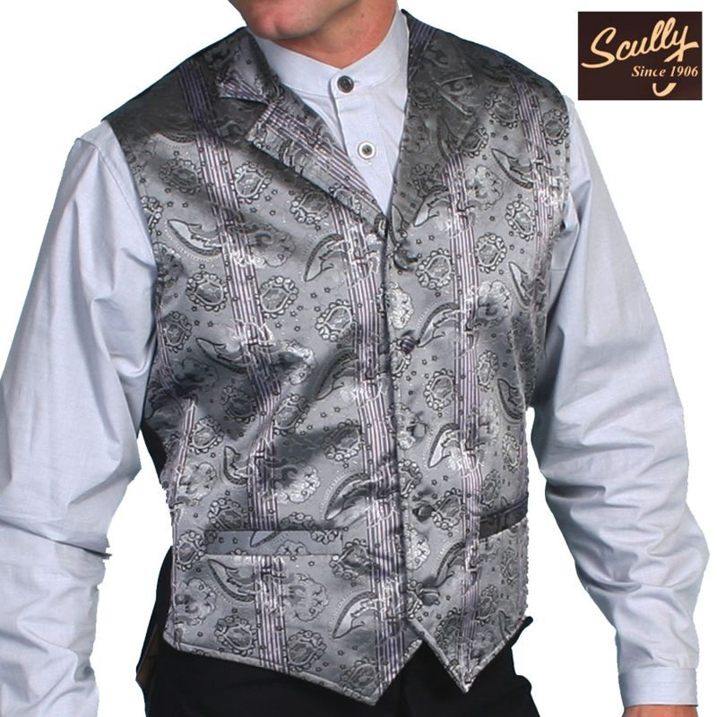 画像1: スカリー オールドウエスト ベスト(グレー)/Scully Old West Vest (Grey)