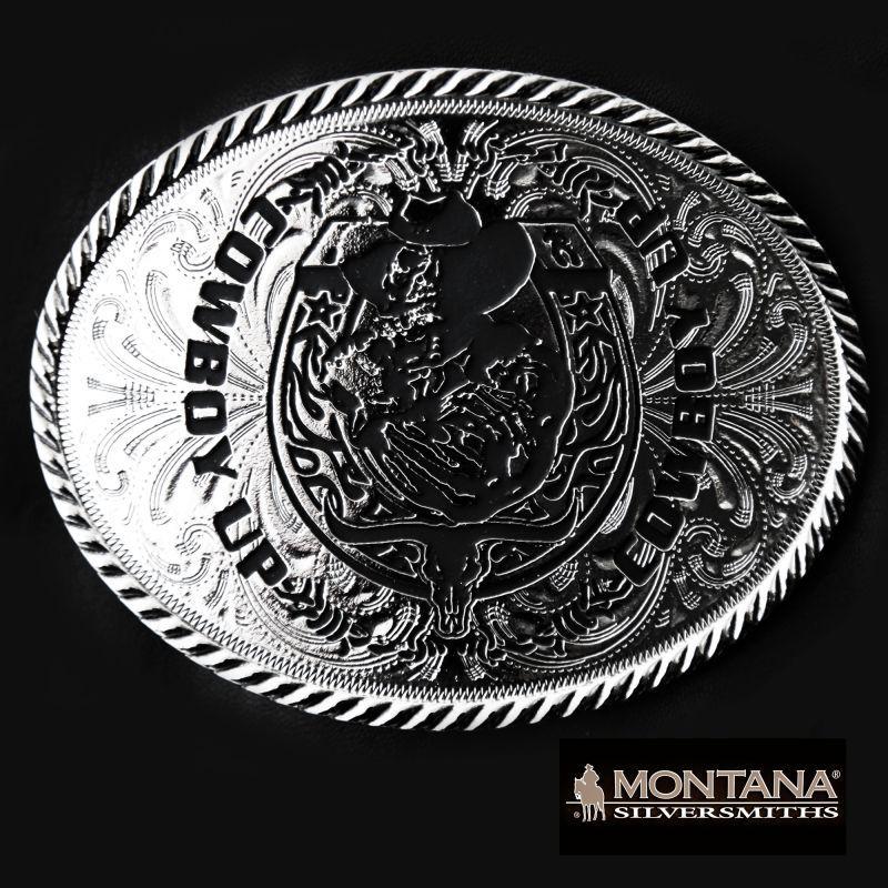 画像1: モンタナシルバースミス ベルト バックル カウボーイアップ/Montana Silversmiths Belt Buckle (1)