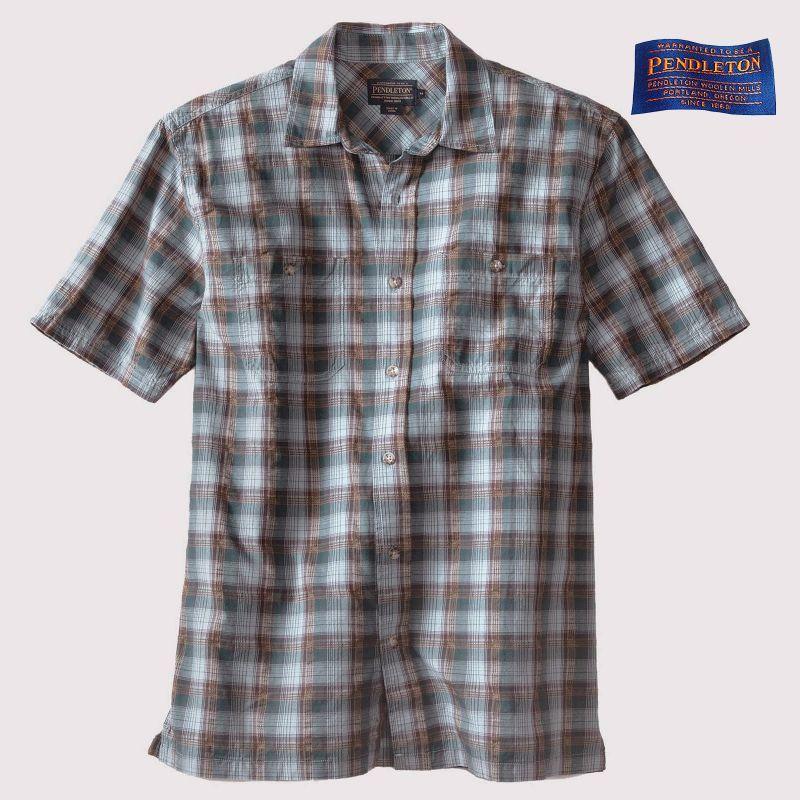 画像1: ペンドルトン バーロウ アウトドア シャツ (半袖 ・ブルー)S/Pendleton Barlow Outdoor Shirt (1)
